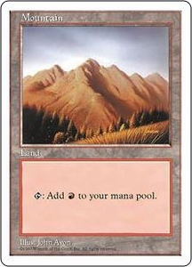 Magic the Gathering Fifth Edition Single Card Land Mountain [Random Artwork]