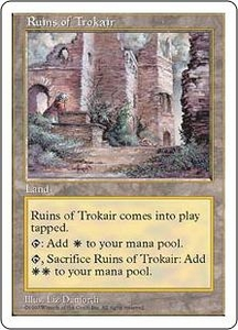 Magic the Gathering Fifth Edition Single Card Uncommon Ruins of Trokair