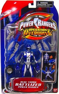 Power Rangers Operation Overdrive Blue Turbo Battlized Power Ranger