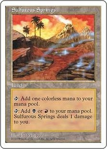 Magic the Gathering Fifth Edition Single Card Rare Sulfurous Springs