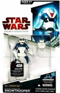Star Wars 2009 Legacy Collection Build-A-Droid Action Figure BD No. 48 Concept Art Snowtrooper