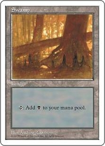 Magic the Gathering Fifth Edition Single Card Land Swamp [Random Artwork]