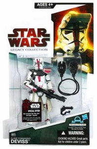 Star Wars 2009 Legacy Collection Build-A-Droid Action Figure BD No. 37 Commander Deviss