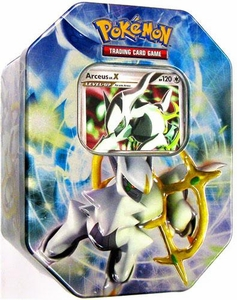 Pokemon 2009 Collector Tin Set Arceus with Arceus LV.X Card [Blue Tin]