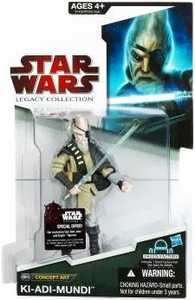 Star Wars 2009 Legacy Collection Build-A-Droid Action Figure BD No. 38 Concept Art Series Ki-Adi-Mundi
