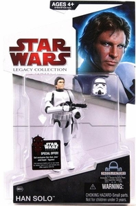 Star Wars 2009 Legacy Collection Build-A-Droid Action Figure BD No. 02 Han Solo in Stormtrooper Disguise