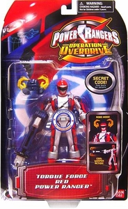 Power Rangers Operation Overdrive Action Figure Torque Force Red Power Ranger