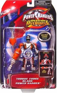 Power Rangers Operation Overdrive Action Figure Torque Force Black Power Ranger