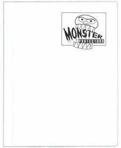 Monster Protectors Card Supplies 4-Pocket White Mini Binder