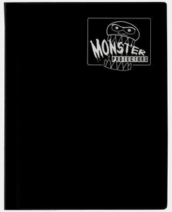 Monster Protectors Card Supplies 4-Pocket Black Mini Binder