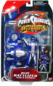 Power Rangers Operation Overdrive Action Figure Battlized Blue Ranger