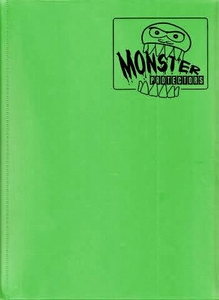 Monster Protectors Card Supplies 9-Pocket Matte Green Binder