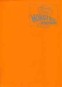 Monster Protectors Card Supplies 9-Pocket Matte Orange Binder