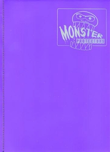 Monster Protectors Card Supplies 9-Pocket Matte Purple Binder