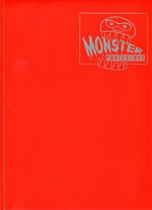 Monster Protectors Card Supplies 9-Pocket Matte Red Binder