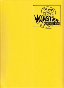 Monster Protectors Card Supplies 9-Pocket Matte Yellow Binder