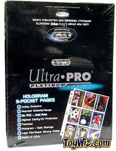 Ultra Pro Card Supplies 100 Nine Pocket Pages