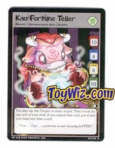 Neopets Trading Card Game Lost Desert Single Card Uncommon 57/100 Kau Fortune Teller