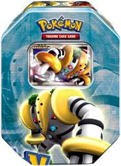 Pokemon 2008 Holiday Collector Series 2 Level-Up Tin Set Regigigas with Regigigas Foil Card