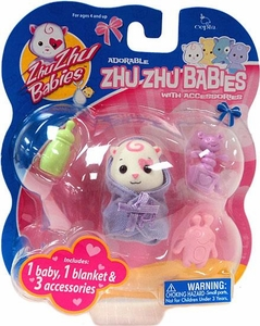 Zhu Zhu Baby Toodles with Accessories [White]