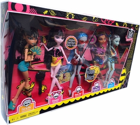 Monster High Gloom Beach Doll 5-Pack [Cleo de Nile, Draculaura, Clawdeen Wolf, Frankie Stein & Ghoulia Yelps]