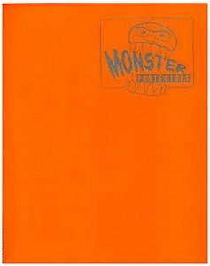 Monster Protectors Card Supplies 4-Pocket Orange Mini Binder