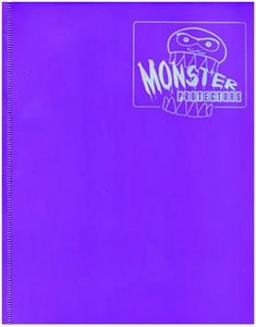 Monster Protectors Card Supplies 4-Pocket Purple Mini Binder