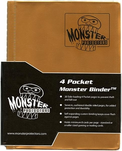 Monster Protectors Card Supplies 4-Pocket Gold Mini Binder