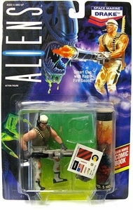 Aliens Kenner Vintage 1992 Action Figure Space Marine Drake [Smart Gun]