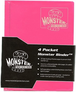Monster Protectors Card Supplies 4-Pocket Pink Mini Binder