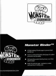 Monster Protectors Card Supplies 9-Pocket Matte White Binder