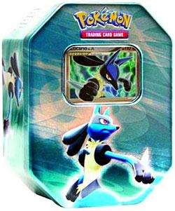 Pokemon Diamond & Pearl 2007 EXCLUSIVE Holiday Tin Set Lucario with Lucario Lv.X Foil Card