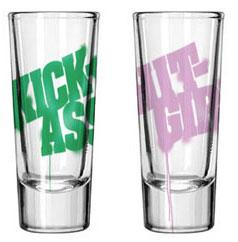 Kick-Ass Mezco Toyz Shot Glass Set Kick-Ass & Hit Girl