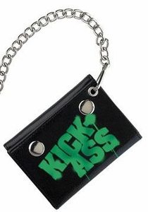 Kick-Ass Mezco Toyz Chain Wallet Green Logo