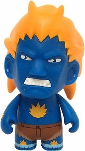 KidRobot Street Fighter Collectible Vinyl 3 Inch Mini Figure Blanka [Blue]