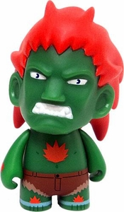 KidRobot Street Fighter Collectible Vinyl 3 Inch Mini Figure Blanka [Green]