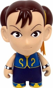 KidRobot Street Fighter Collectible Vinyl 3 Inch Mini Figure Chun-Li [Blue]