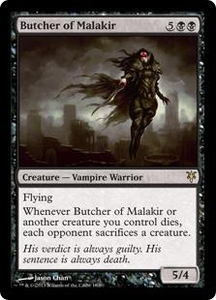 Magic: The Gathering Duel Decks: Sorin vs. Tibalt Single Card Black Rare #18 Butcher of Malakir
