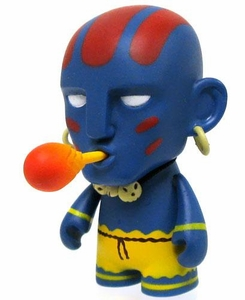 KidRobot Street Fighter Collectible Vinyl 3 Inch Mini Figure Dhalsim [Blue]