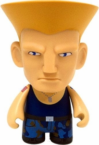 KidRobot Street Fighter Collectible Vinyl 3 Inch Mini Figure Guile [Blue]