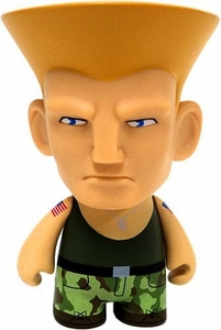 KidRobot Street Fighter Collectible Vinyl 3 Inch Mini Figure Guile [Green]
