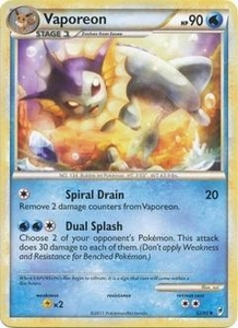 Pokemon Call of Legends Single Card Uncommon #52 Vaporeon
