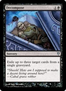 Magic: The Gathering Duel Decks: Sorin vs. Tibalt Single Card Black Uncommon #20 Decompose