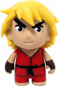 KidRobot Street Fighter Collectible Vinyl 3 Inch Mini Figure Ken [Red]