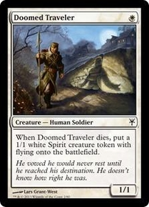 Magic: The Gathering Duel Decks: Sorin vs. Tibalt Single Card White Common #2 Doomed Traveler