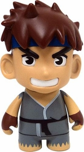 KidRobot Street Fighter Collectible Vinyl 3 Inch Mini Figure Ryu [Grey Gi]