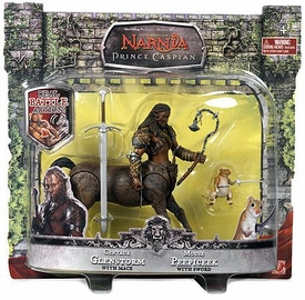 Chronicles of Narnia Prince Caspian Basic Figure 2-Pack Centaur Glenstorm & Mouse Peepicheek
