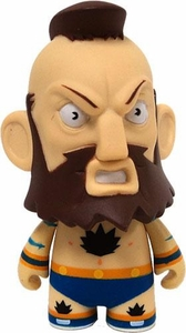 KidRobot Street Fighter Collectible Vinyl 3 Inch Mini Figure Zangief [Blue]