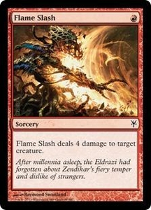 Magic: The Gathering Duel Decks: Sorin vs. Tibalt Single Card Red Common #60 Flame Slash