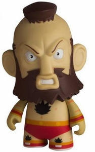 KidRobot Street Fighter Collectible Vinyl 3 Inch Mini Figure Zangief [Red]